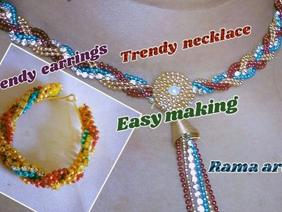 Jewelry with ball chain - Making of trendy necklace and earrings | jewellery tutorials