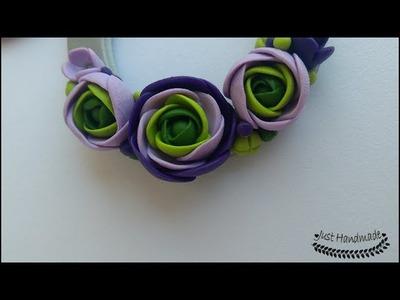 ~JustHandmade~ Polymer clay (fimo) ranunculus flower tutorial