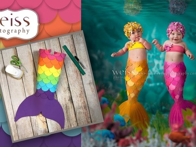 Mermaid Tail Tutorial For Baby Costumes Photography