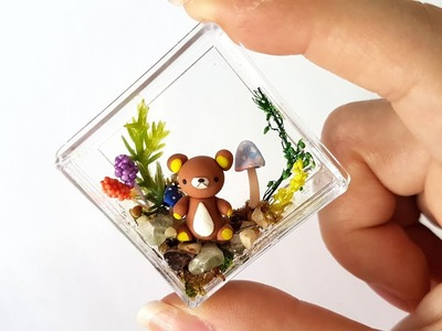 Mini Rilakkuma Terrarium - Polymer Clay Tutorial