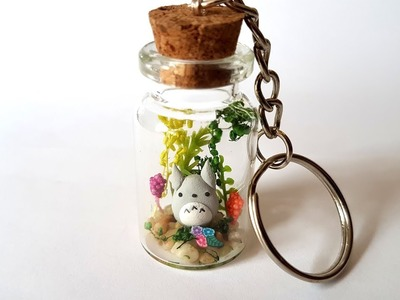 Mini Totoro Terrarium in a Bottle ♥ Polymer Clay Tutorial