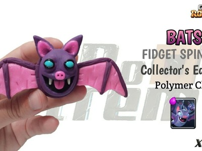 NIGHT WITCH BATS FIDGET SPINNER | Clash Royale | Polymer Clay Tutorial