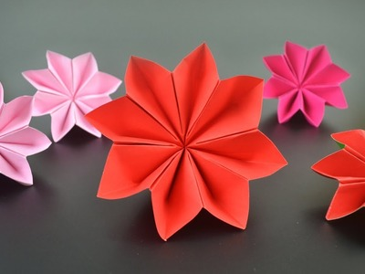 Origami: Christmas Flower. Poinsettia - Instructions in English (BR)