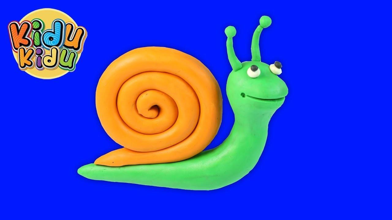 Play doh Snail | Play Dough Modelling Creative DIY Fun for Kidu Kidu Kids