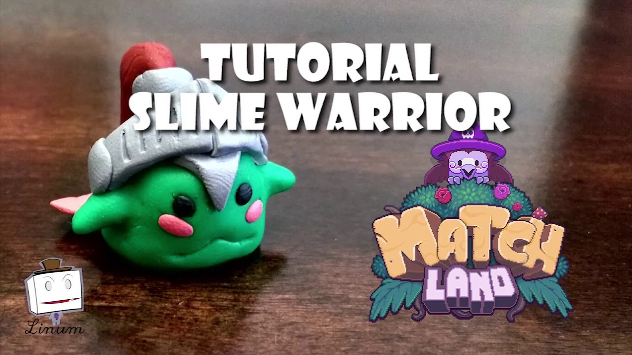 Polymer clay. Slime Warrior - Match land