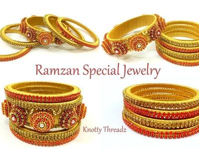 RAMADAN SPECIAL Jewelry Series   3D Designer Bangles   Ramzan Collection   www.knottythreadz.com