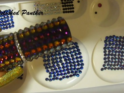 Requested HOW TO | DIY | ENCRUST  SWAROVSKI CRYSTALS nail art stamper holder shot glass