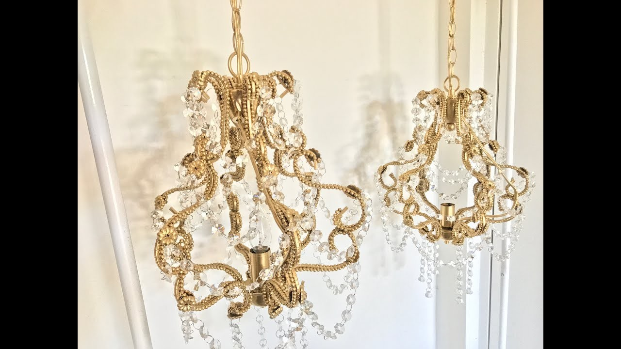 Revamp bead crystal chandelier my crafts and diy projects for Chandelier craft ideas