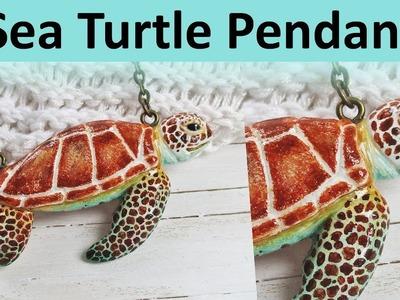 Sculpting A Sea Turtle Pendant, Polymer Clay TIME LAPSE || Maive Ferrando