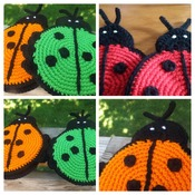 Set of Two Heavy Duty Potholder - Ladybugs