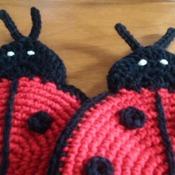 Set of Two Heavy Duty Potholder - Ladybugs