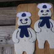 Set of Two Heavy Duty Potholders - Pillsbury Dough Boy