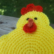 Set of Two Heavy Duty Potholders - Baby Chicks