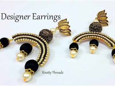 Silk Thread Jewelry | Making of Designer Earrings | Antique Collection | DIY | www.knottythreadz.com