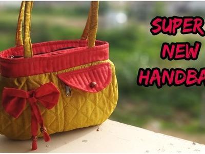 Super handbag make at home.handbag cutting and sewing in Hindi.