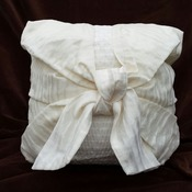 taffeta and organza cushion