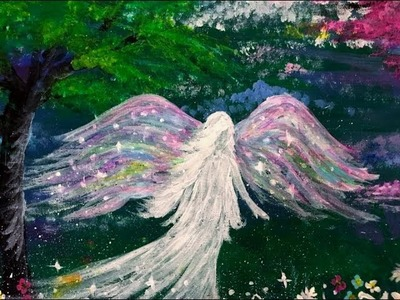 The Rainbow Angel LIVE Painting Lesson Part One
