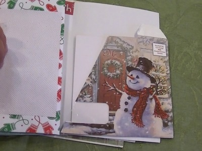 Using 5 cards and 5 envelopes to make a (Christmas) Junk Journal