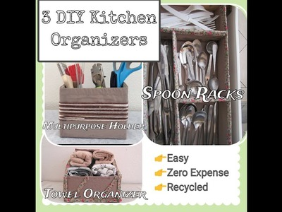 3 Easy DIY Kitchen Organizers | Best out of Waste
