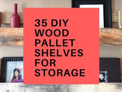 35 DIY Wood Pallet Shelves for Storage