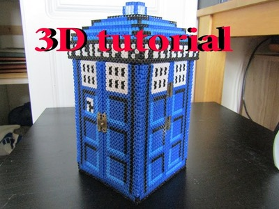 3D tardis jewellery box tutorial -  perler beads