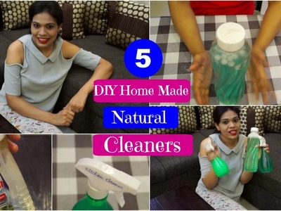 5 DIY Cleaners for Kitchen.Floor.Glass.Furniture in Hindi [with english subtitles]