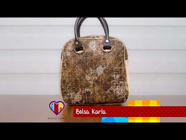 Aula em vídeo da bolsa de tecido Karla. DIY. Fabric bag. Make a fabric bag. Fabric bag tutorial