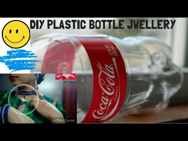 Best out of waste diy plastic bottle jwellery choker for Best out of plastic