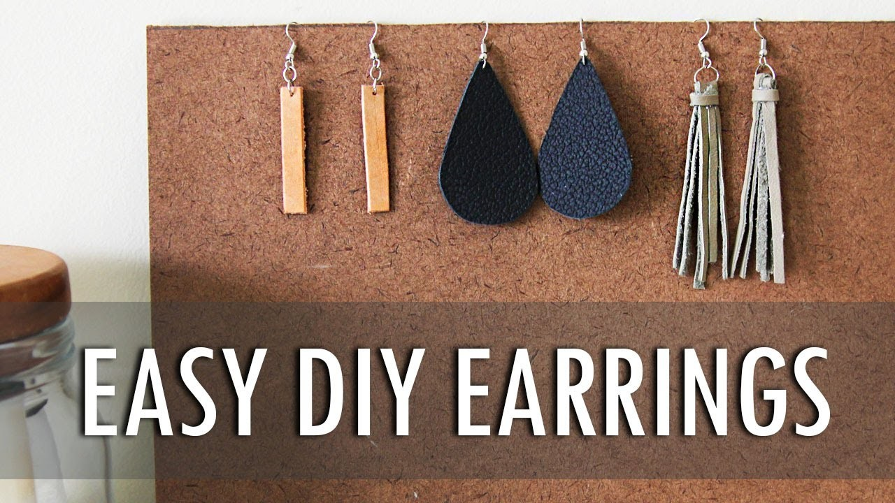 DIY | 3 Easy Leather Earrings