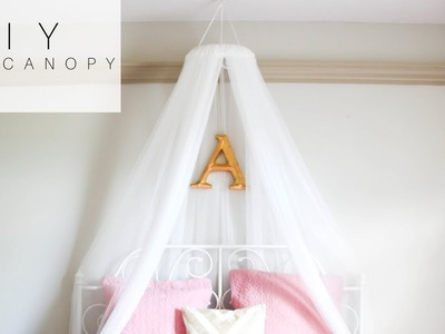 DIY Bed Canopy for Under $10