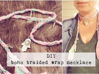 DIY BOHO HIPPIE BRAIDED WRAP NECKLACE