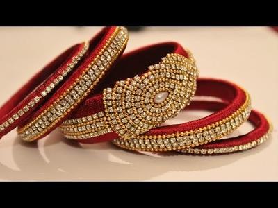 DIY Bridal Chuda: Make your own bridal bangles at home!! easy and simple
