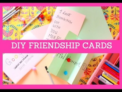 DIY cards for friends | Friendship Day Gift ideas | 3 DIY cards for friends | BFF gift ideas