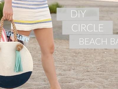 DIY CIRCLE BEACH BAG FROM SCRATCH || Katie Bookser