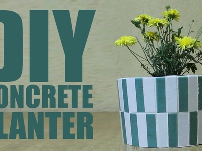 DIY Concrete Planter - Flower Pot
