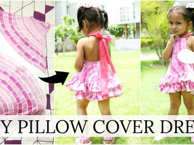 DIY Dress from Pillow Cover - Kid Outfits, Fashion Ideas, Step By Step | ShrutiArjunAnand