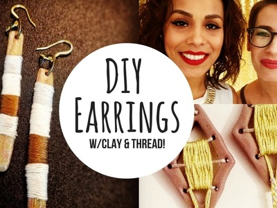 DIY Earrings - Embroidery Floss Wrapped Clay Jewelry