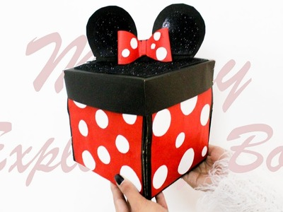 DIY : Exploding Box | Mickey Mouse Theme | Card Ideas | Best Card for Birthday or