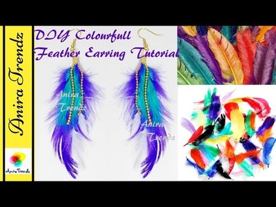 DIY Feather Earring in Just 2 Mins | Jewel making with my Little Son