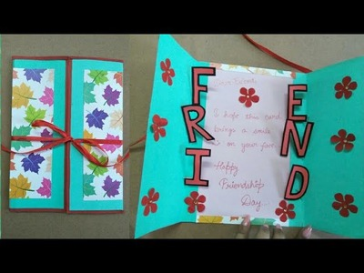 DIY Friendship Card | How to make card for friends | Simple and easy Friendship Day Card tutorial
