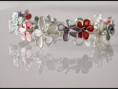 Diy Jewellery wire Necklace using Nailpolish