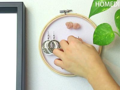 DIY Jewelry Organizer and Holder  + Brush Cleaner