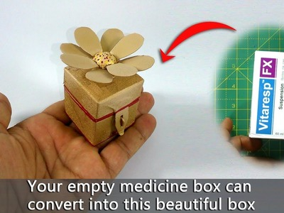 DIY Let's make a ring box from empty medicine box
