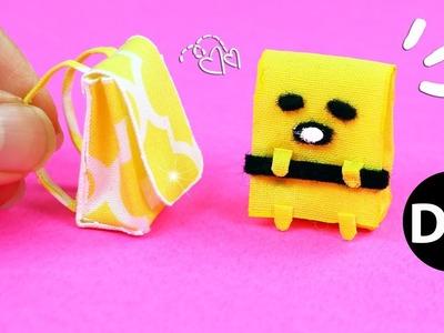 DIY Miniature Backpack. Gudetama School Bag for Doll.Dollhouse Back to School by Creative World