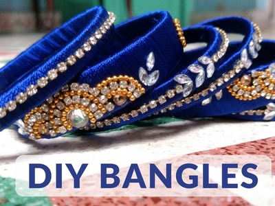 DIY(OLD TO NEW) SILK THREAD STUDDED BANGLES + Different ways to style it || LetsDothis