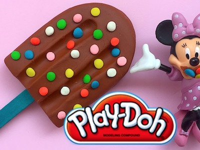 DIY Play-Doh Learn Make Chocolate Ice Cream Rainbow Choco Ball Minnie Mouse Toy Soda