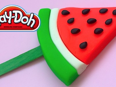 DIY Play-Doh Learn Make Cool Watermelon Ice Cream Toy Soda