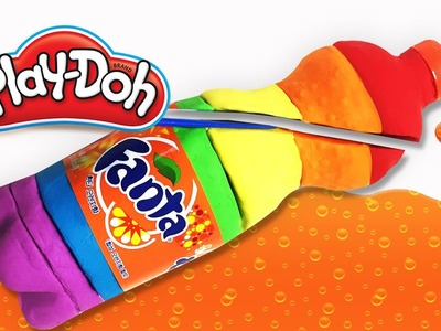 DIY Play-Doh Learn Make Fanta Bottle Modeling & Blueberry Ice Cream Toy Soda