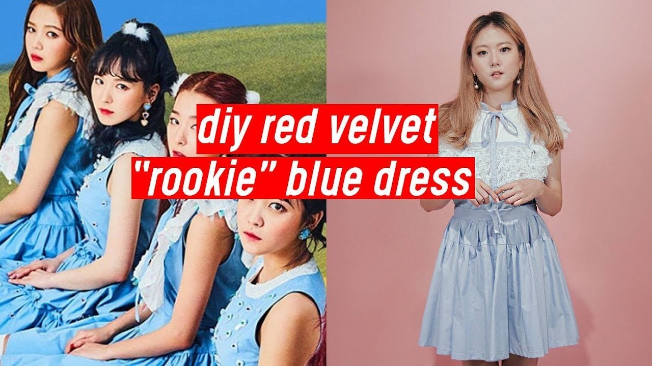 "DIY Red Velvet ""Rookie"" Blue Lace Dress 