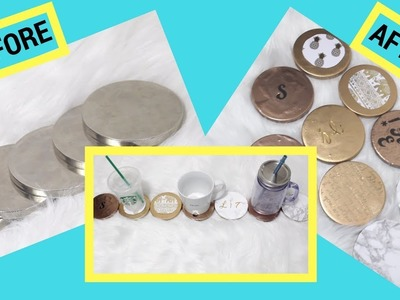 DIY | Reuse Your Bath & Body Candle Lids (Coasters & More)